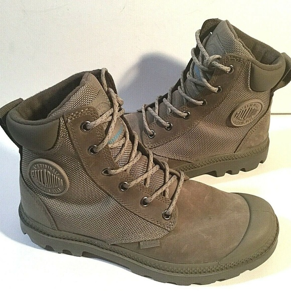 Palladium Shoes - Palladium Leather US W7 Hiking Boots Waterproof